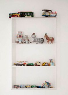 Giving items room to breathe on a shelf makes them feel more like a fine art display than simple storage.
