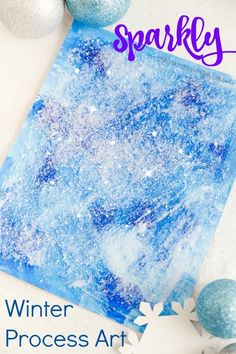 winter process art for preschoolers