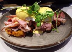 House Benedict with Potato Rosti, Grandmother Ham, Poached Eggs and Chives Hollandaise @Operator 25