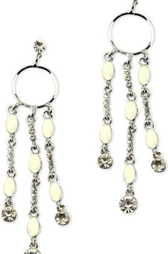 #earrings #dangler #party #crystal #silvervia @Roposo