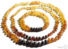 Set Of Raw Unpolished Rainbow Color Baltic Amber by BalticAmbers, $42.00