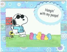 Hanging with my Peeps!  Happy Easter