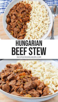 Paprika Spice, Creamy Garlic Sauce, Hungarian Recipes, Food Hacks, Stew, Tomatoes, Dinners, Pork