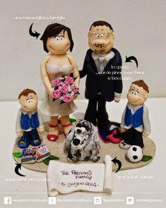 ...ele-ganza...: cake topper matrimonio /wedding topper cake #caketopper #toppercake #topcake #weddingidea #weddingcake #weddingcaketopper #sopratorta #cakedesign #cakeidea #caketop #fimo #clay #clayproject #clayminiature www.ele-ganza.it