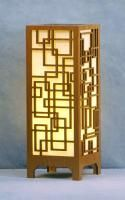 Laser Cut Wood Table Lamps: Rectangles