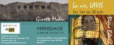 Vernissage de l'exposition La vie, lavis du duo Diane Béland et Ginette Maheu le 6 juin 2015 à la Galerie mp tresart