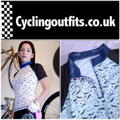 The Blue Greyhound women cycling jersey by Galgo Ropa Ciclismo. Unique Latin American design design you won't find anywhere else in the UK!