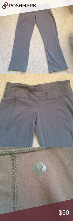 Lululemon ankle length belt loops great cond. 6 Lululemon pants sandy brown. Great used condition. Super cute ankle length. Size 6 lululemon athletica Pants