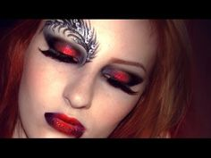 Gothic Vampire Makeup Tutorial / Feathered Mask For Masquerade Halloween Lace Make-up - YouTube