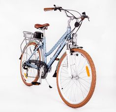 RooDog Polka Dot retro blue electric bike