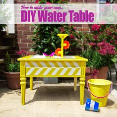 How to Make Your Own DIY Water Table - A Lovely Lark