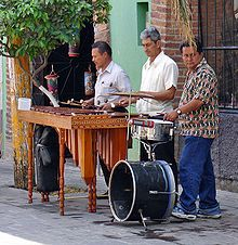Arts: There is many types of songs that people listen to in Costa Rica. One type of music they listen to is folk music. This picture above shows two men who are playing instruments to create folk music. folk music is traditional rhythms that are created by everyday citizens. In Costa Rica, the four powerhouses for folk music are Guanacaste, the Central Valley, Limon, and San Isidro del General.