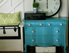 gorgeous blue dresser