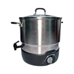 Ball FreshTech Electric Water Bath Canner, Silver Replace your old, stove top canning water bath with an electric water bath canner you can move anywhere you Specialty Appliances, Small Appliances, Kitchen Appliances, High Acid Foods, Canning Water, Kerr Mason Jars, Canning Rack, Rice Cooker Steamer, Low Acid Recipes