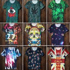 Encontrar Más Camisetas Información acerca de 2014 nueva moda de algodón de manga corta para 3D o cuello de la camiseta de Unique hombres / mujeres Tiger / cráneo / payaso camiseta impresa, Men ' s de la camiseta, alta calidad T- shirt de surf, China logotipo de la camisa Proveedores, barato camisa de flash de Best Tempo en Aliexpress.com