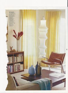 A few modern pieces and a splach of yellow keep things current looking!
