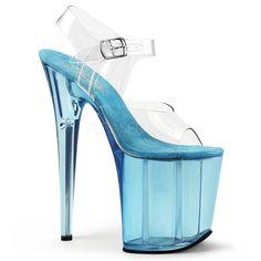 PLEASER Sexy 4 High Heel Stilettos Gold Slides Shoes