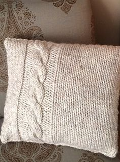 This is an easy cable pillow designed for the beginning cable knitter in mind, but the pattern is still fun and quick to knit for the advanced knitter. It makes a great gift!   Michelle Lynne
