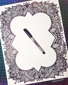 border is finished,  #sharpie #art ✨                                                                                                                                                     More