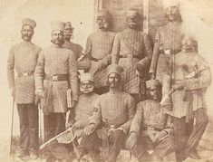 Native Officers of Ambala, 1850s