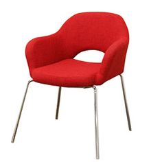 @Overstock.com - Mid-century Modern Red Twill Executive Arm Chair - Get a huge pop of style along with your extra seating with this red modern armchair. Featuring classic mid-century modern design and constructed of wood and steel, this armchair boasts bright red twill upholstery and gleaming chrome legs.  http://www.overstock.com/Home-Garden/Mid-century-Modern-Red-Twill-Executive-Arm-Chair/5650974/product.html?CID=214117 $167.39