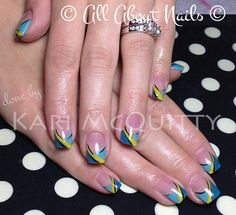 Abstract nails done by Kari at All About Nails & Training.  www.allaboutnails.org