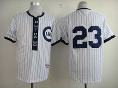 f14456a8f64 Cubs  23 Ryne Sandberg White 1909 Turn Back The Clock Stitched MLB Jersey  Beige