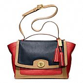 LEGACY COLORBLOCK LEATHER FLAP CARRYALL