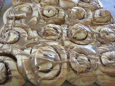 Maple Iced Cinnamon Rolls