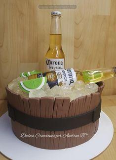 cakes for men Birthday Cakes For Men, Funny Birthday Cakes, 25th Birthday Parties, Cake Birthday, Corona Cake, Corona Beer, Liquor Cake, Cake Design For Men, 18th Cake