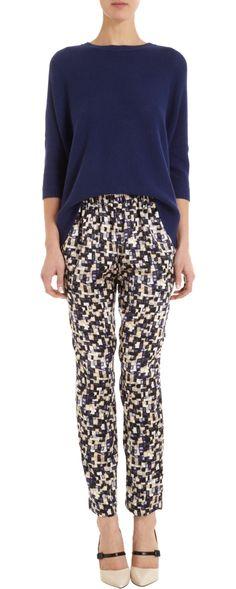 Organic by John Patrick Printed Silk Pants Silk Pants, Harem Pants, Trousers, Pajama Pants, Sustainable Style, Sustainable Fashion, Chic Chic, Printed Silk, Spring 2014