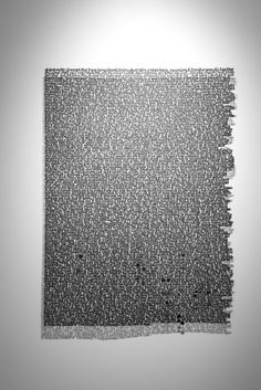 """""""I am Crossing an Ocean, With 2 Others On a Piece Of Paper"""" by Annie Vought. Annie Vought has an infatuation with text. Her paper cut letters are skeletons of Poesia Visual, Instalation Art, Paper Cutting, Cut Paper, Paper Artist, Word Art, Amazing Art, Annie, Illustration Art"""