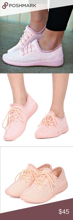 🚨1 HR SALE🚨CHRISSIE-MARIE comfy sneaks - PINK Super comfy & cute lace up sneakers. Runs TRUE TO SIZE. Available in pink & grey. True color is pic 2-4. 🚨PRICE FIRM🚨 Shoes Sneakers