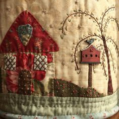 Pilar Tobella: detail of my basket for quilting design by Born to Quilt