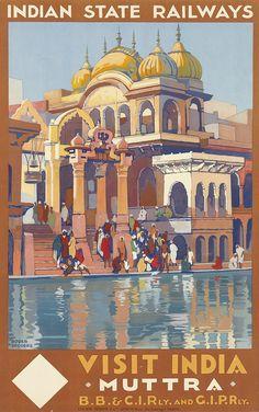 VISIT INDIA / MUTTRA. 1928.