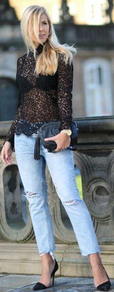 Pinterest : LoLoBu. Black Lace – Natulianatulia.com #black