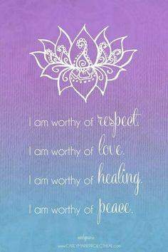 I am worthy Affirmations