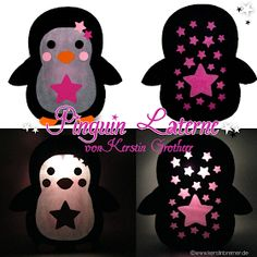 Penguin lantern – design example by Kerstin Grotheer Diy Craft Projects, Diy And Crafts, Projects To Try, Arts And Crafts, Creative Money Gifts, Creative Kids, Diy For Kids, Crafts For Kids, Zoe S