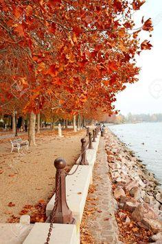 Beautiful Promenade At Lake Balaton In Autumn, Hungary (Balatonf�red) Stock Photo, Picture And Royalty Free Image. Image 12025177.