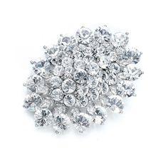 Scarla Cluster Round Brooch