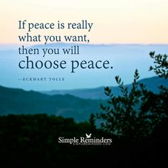 If peace
