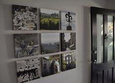 travel pics on 12x12 canvas