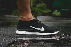 buy online 46f8a 691c4 Womens New Nike Free Flyknit+ 5 Anthracite Black White On Feet Nike Free  Flyknit, Nike