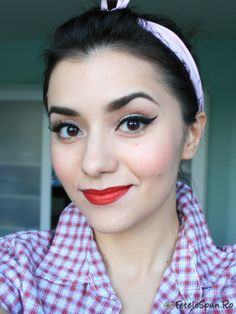 Pin up girl makeup...love this look; really cute