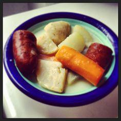 Ragoût de légumes d'hiver et saucisse de Montbeliard