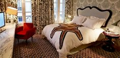 The rooms in Hotel Thoumieux match the bold cuisine. (We've never loved animal print so much!)