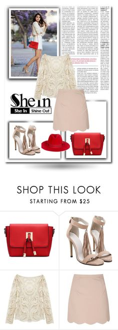 """""""SheIn 3/I"""" by nermina-okanovic ❤ liked on Polyvore featuring Glamorous, Filù Hats and shein"""