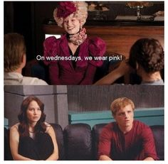Haha mean girls AND hunger games! Could this get better?