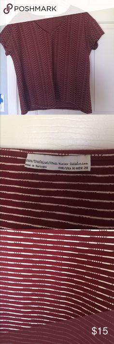 ZARA T-Shirt Red & white striped. Zara t-shirt. Size medium. Great condition. Zara Tops Tees - Short Sleeve