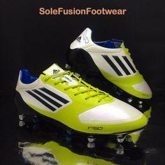 a1b29e8427d adidas Mens F50 adizero Football Boots White sz 9.5 SG Soccer Cleats US 10  EU 44
